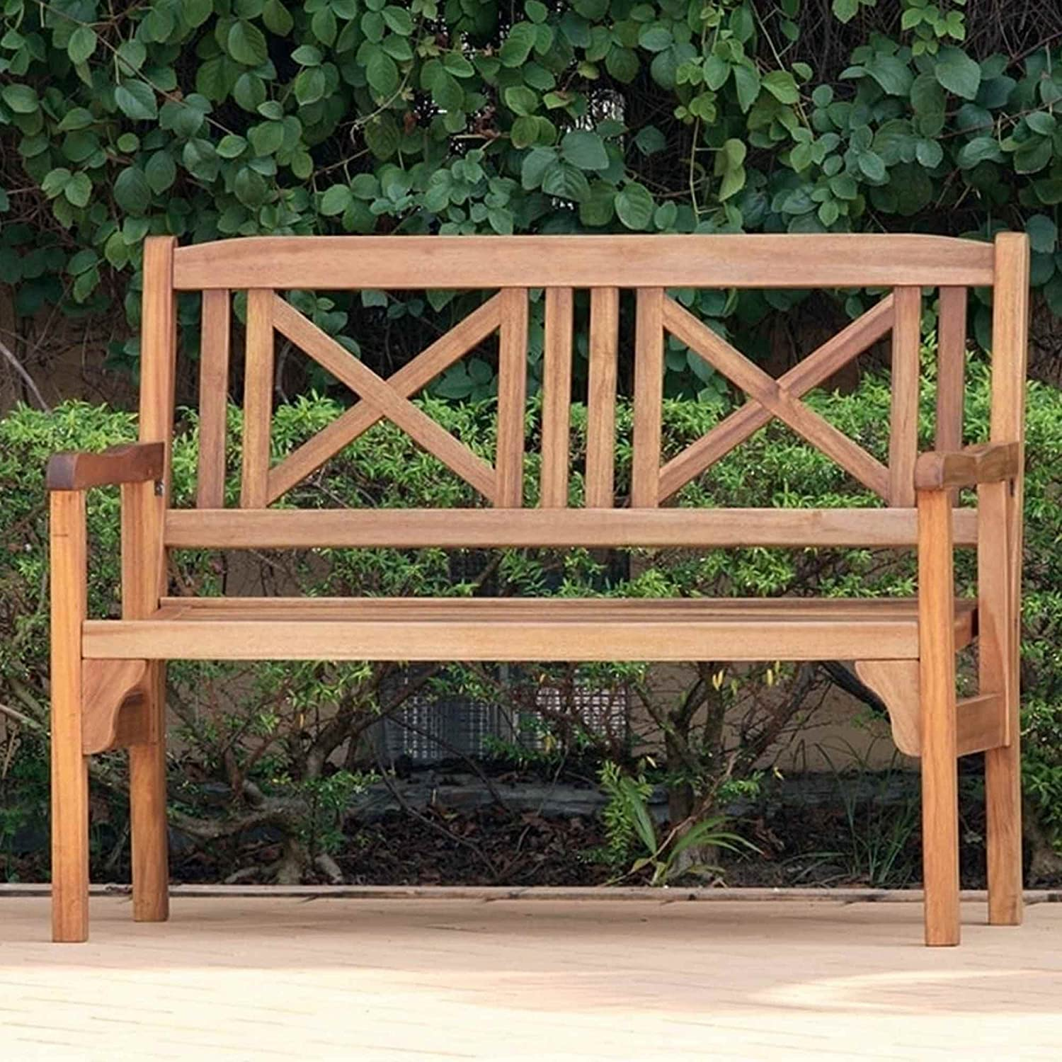 Eco Box Folding Bench Lucia, Honey, 2 Seater Norfolk Leisure Lifestyle Ltd 861611