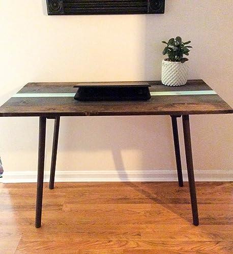 Amazon.com: Mid century modern wood desk with angled legs ...