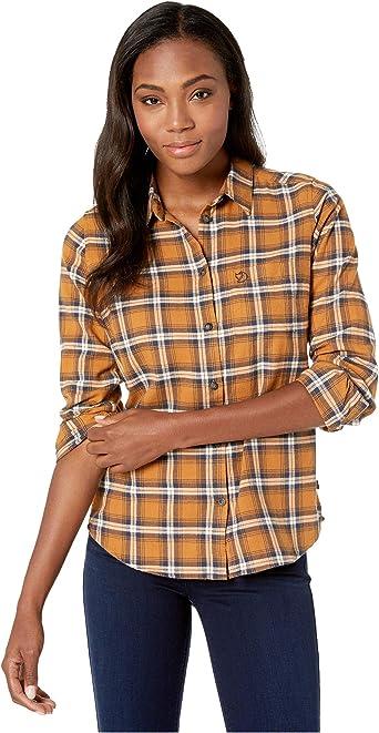 FJALLRAVEN Övik Flannel Shirt W Camisa de Manga Larga Mujer
