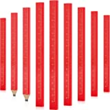 20 Pieces Flat Wood Carpenter Pencil Wood Cased Pencil Construction Woodwork Pencil Medium Hard Wood Lead Pencil