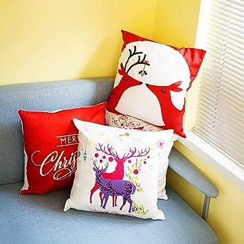 Amazon.com: Ahua - Funda de cojín para sofá o cama, diseño ...