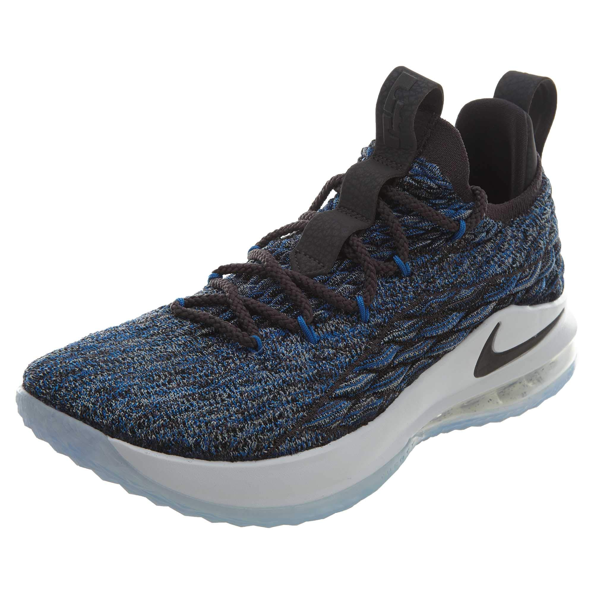 new product 00cfc 96a98 Galleon - NIKE Lebron XV Low Mens Fashion-Sneakers AO1755-400 8.5 - Signal  Blue Thunder Grey-Black