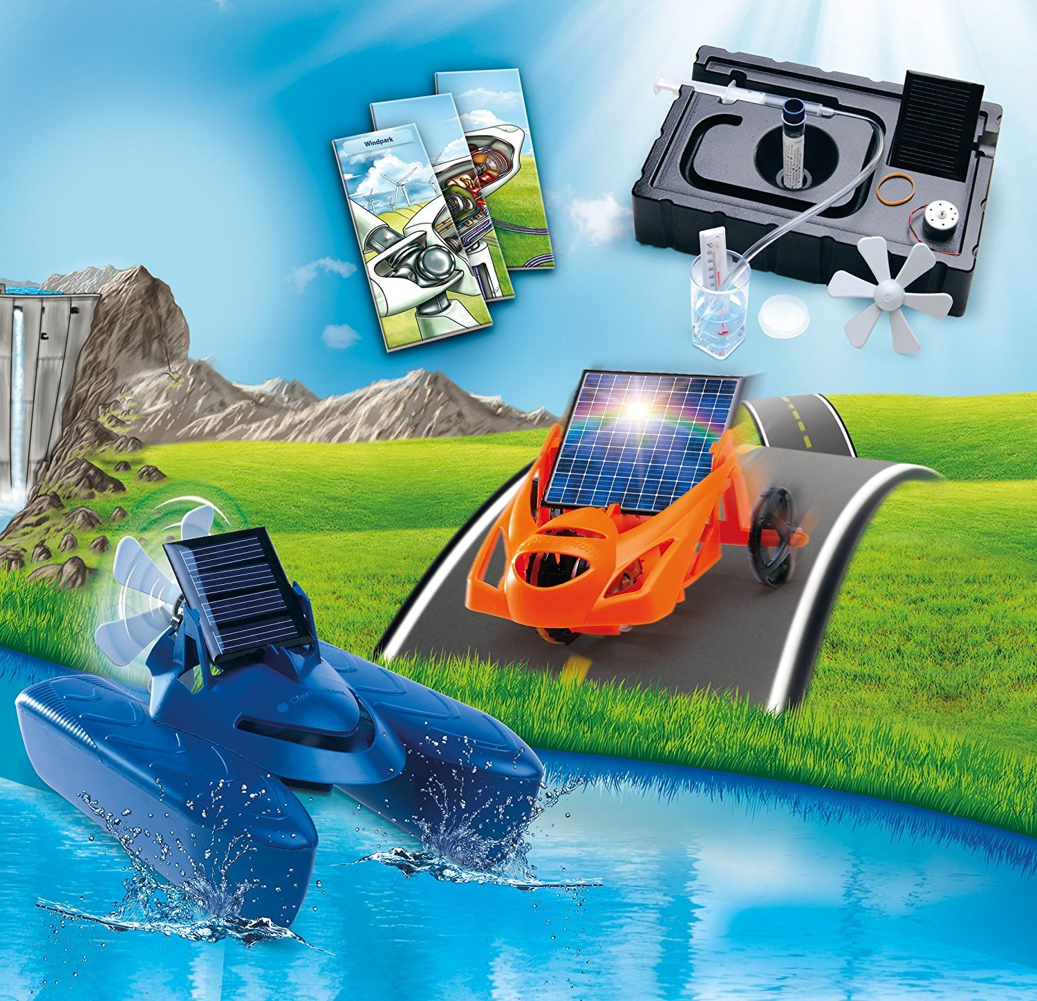 Educational Science Activity Kit, Solar Powered Future Energy Experiments, Vehicle Assembly Kit, Ages 8 and up