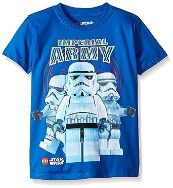 Boys Kids Official Lego Star Wars Blue Stormtroopers Short Sleeve T Shirt Top