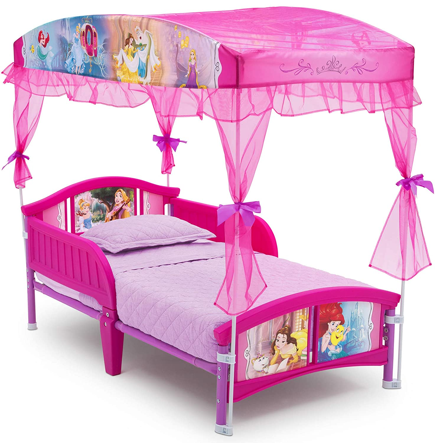 - Amazon.com : Delta Children Canopy Toddler Bed, Disney Princess : Baby