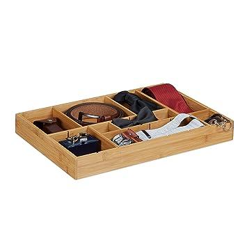 Relaxdays Organiseur de tiroir ajustable HxlxP: 5 x 45 x 32 cm ...