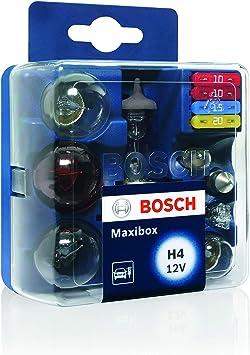 Estuche de lámparas de repuesto Bosch Maxibox H4 12V: BOSCH: Amazon.es: Coche y moto