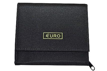Práctico Euro Cartera con 8 independientes pequeño Dinero de compartimentos …