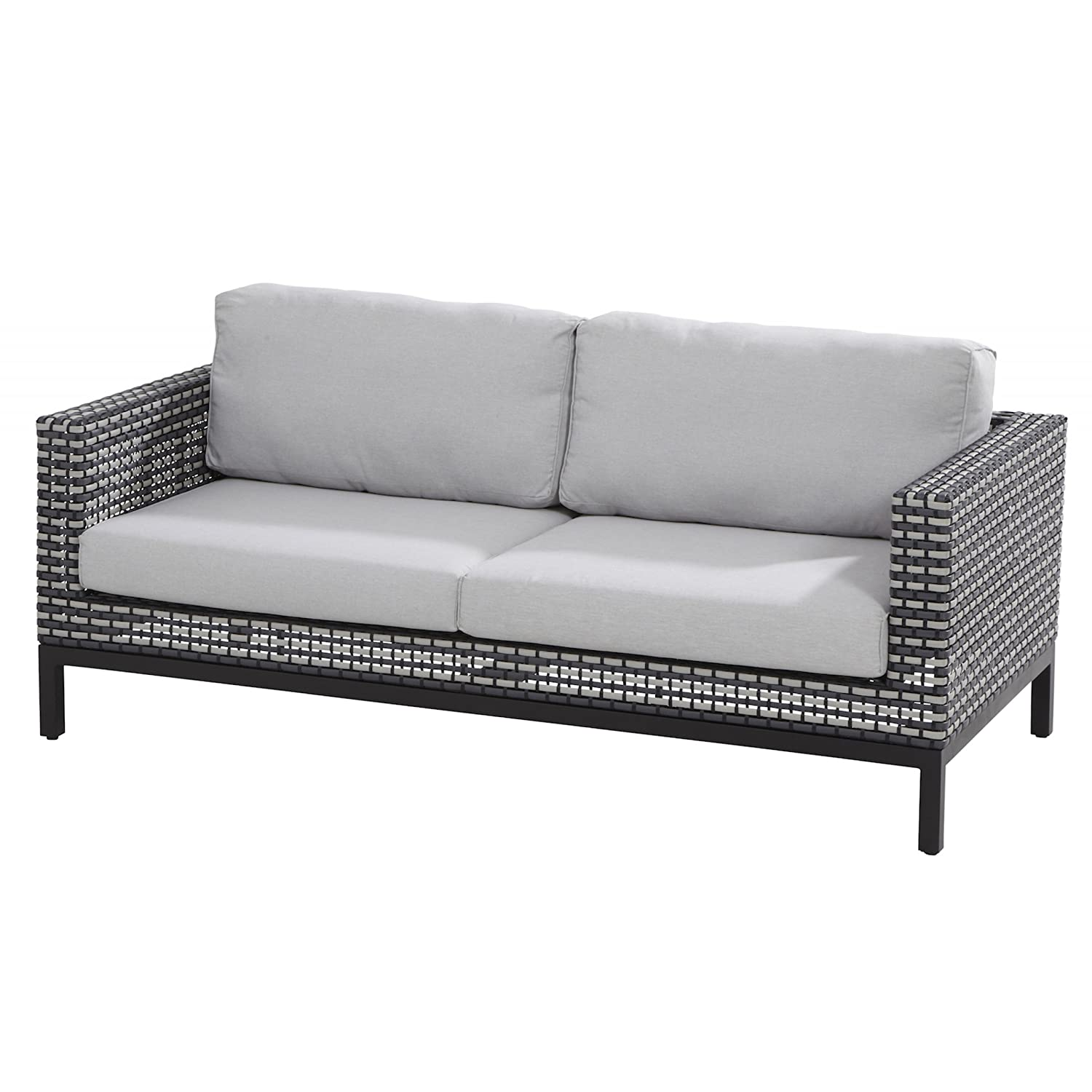 Lounge sofa outdoor günstig  4Seasons Outdoor Dias 2,5-Sitzer Loungesofa Black Pepper inkl. 4 ...