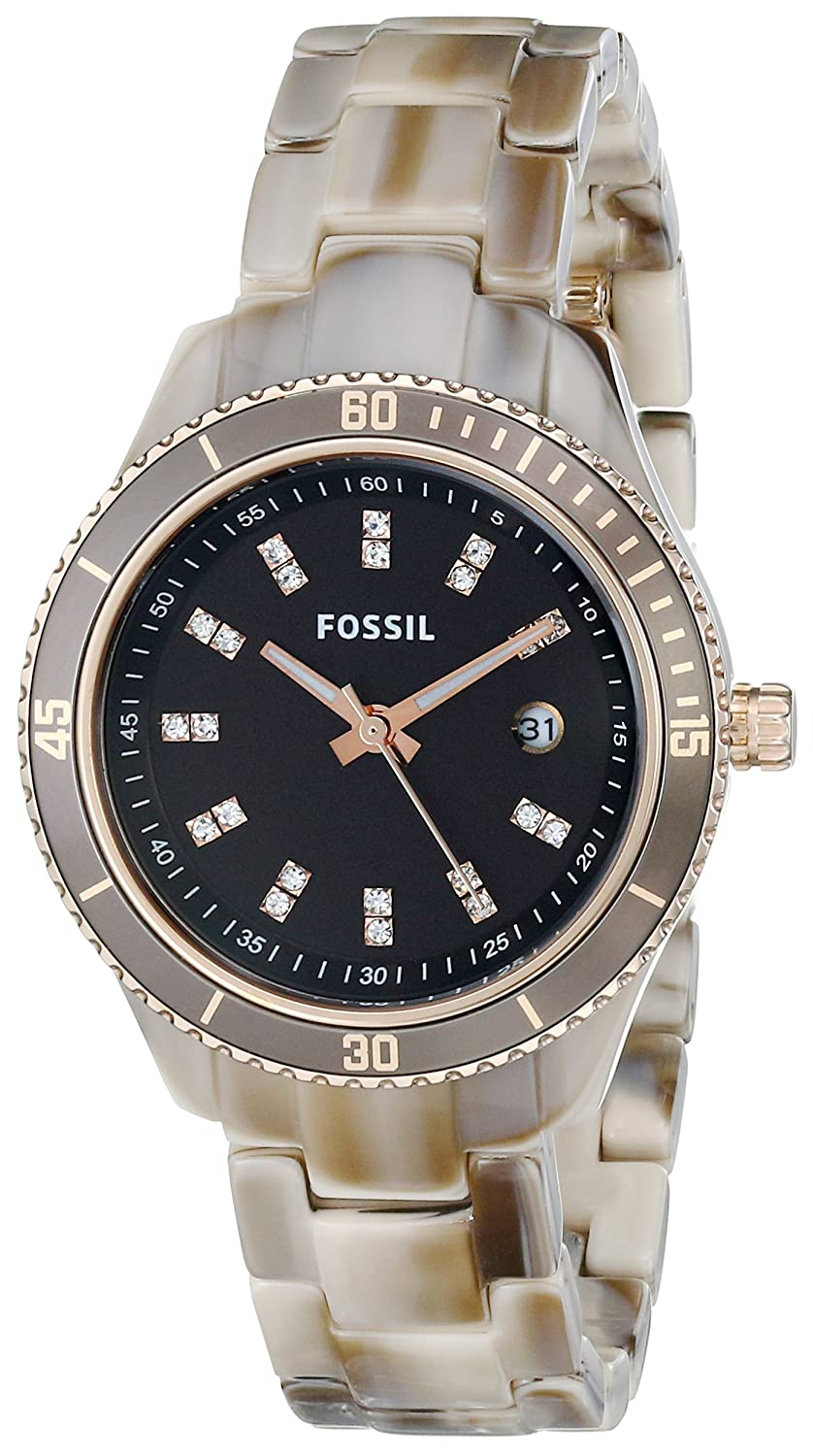 Amazon.com: Fossil Stella Mini Three Hand Resin Watch - Alpine Horn Es3094: Fossil: Watches