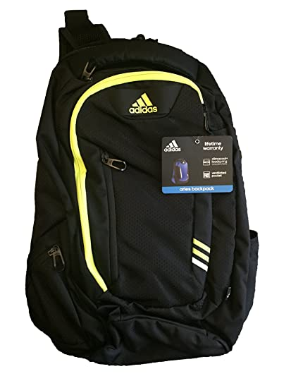 Amazon.com  ADIDAS ARIES Backpack Blk Yellow Climacool Tech Friendly Laptop  Storage 15.4 XL  Computers   Accessories 3c0237e78d706