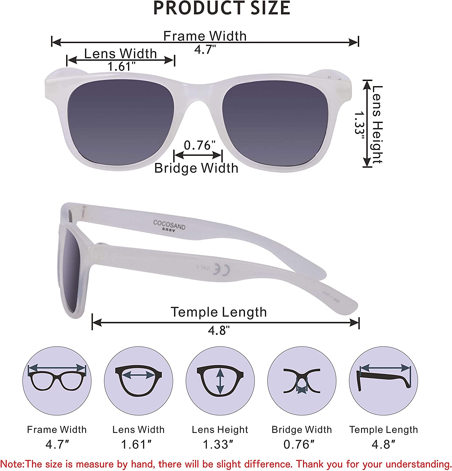COCOSAND Kids Toddlers Boys /& Girls UV400 Protection Sunglasses for Age 2-4 years