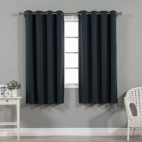 Best Home Fashion Thermal Insulated Blackout Curtains   Antique Bronze  Grommet Top   Navy   52u0026quot