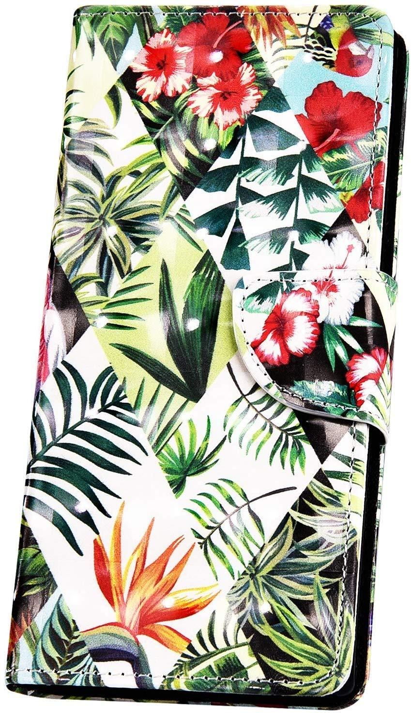 Kompatibel mit Huawei P20 Pro H/ülle Handyh/ülle Glitzer Bling Gl/änzend 3D Bunt Muster Schutzh/ülle Leder H/ülle Flip Case Handytasche Brieftasche Klapph/ülle St/änder Kartenfach,Schmetterling