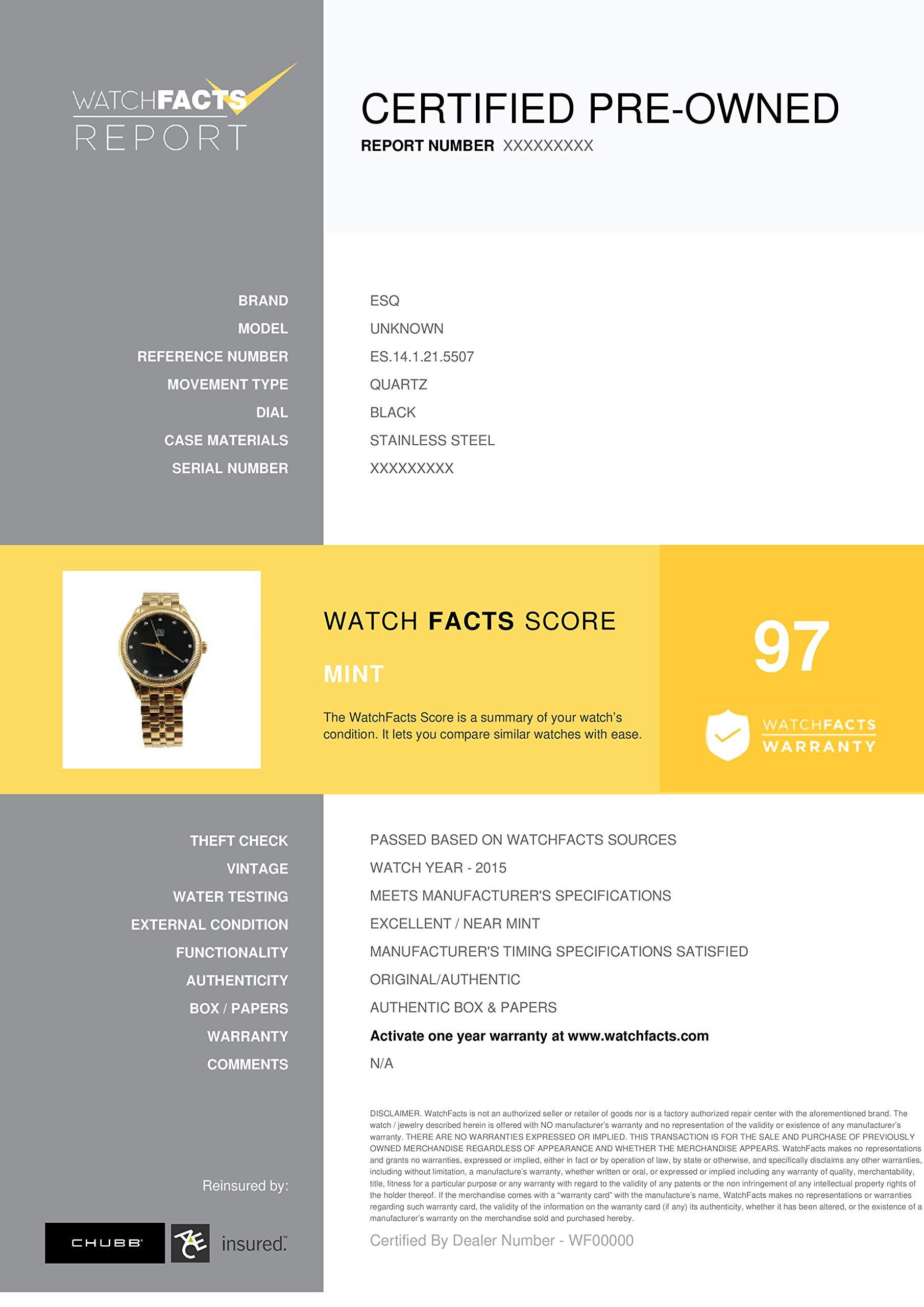 ESQ Unknown Quartz Male Watch ES.14.1.21.5507 (Certified Pre-Owned) by ESQ (Image #3)