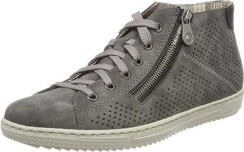 RIEKER Hohe Sneaker mit Reißverschluss in grau