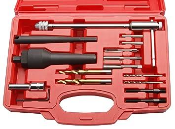 Maletín con extractor de bujía de precalentamiento M8 M10: Amazon.es: Coche y moto