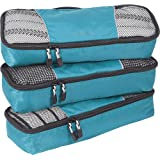 eBags Packing Cubes Packtaschen: 3-teiliges Packwürfel-Set Slim (Aquamarin)