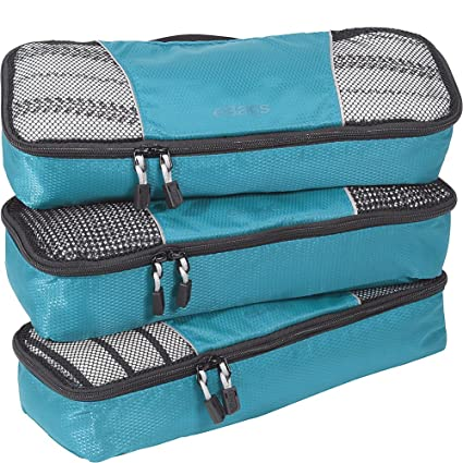 242f71cf7e9 eBags Slim Packing Cubes - 3pc Set (Aquamarine)  Amazon.co.uk  Shoes   Bags