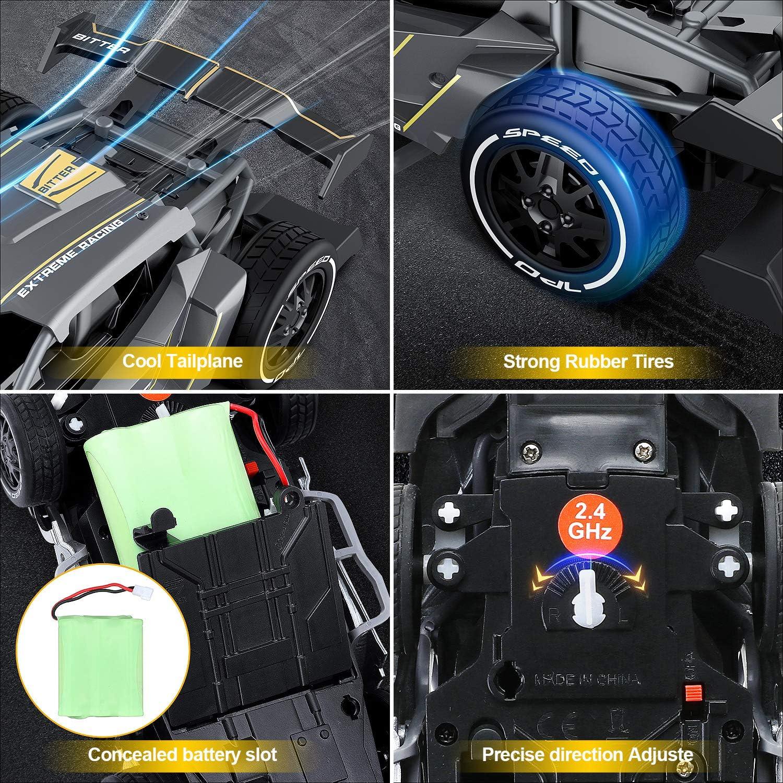 EACHINE Macchina Telecomandata EC05 Auto Giocattoli per Bambini 1//24 Corse ad Alta velocit/à