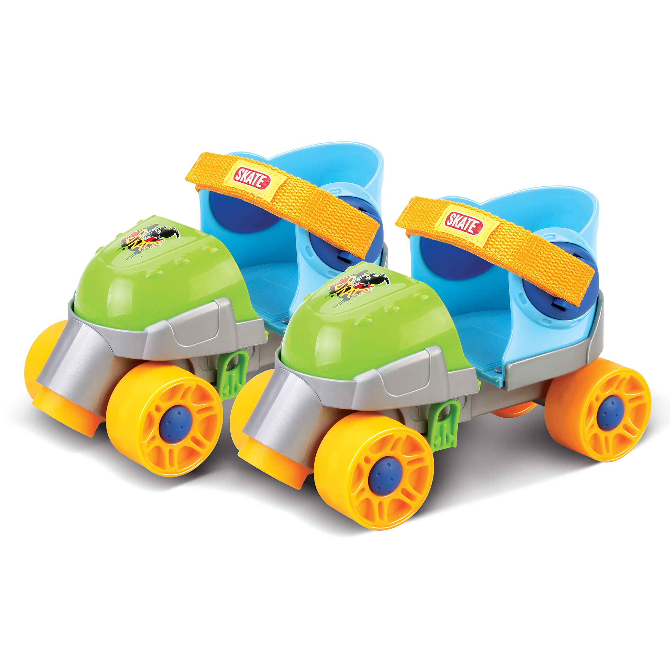 Liberty Imports Grow-with-Me Easy Training Adjustable Inline Rollerskates (Green)