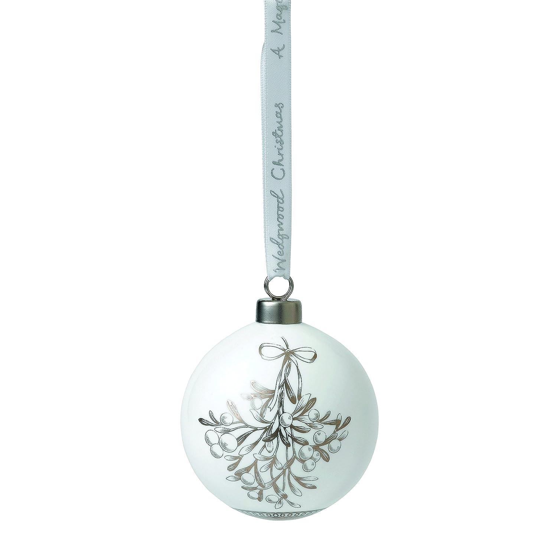 Wedgwood Christmas Ornaments.Wedgwood Christmas Tree Fine China White 3 1 Amazon Co