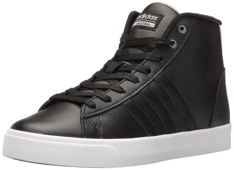 adidas Women's Cloudfoam Daily Qt Mid Fashion Sneakers B01HSISI0A 10 M US|Black/Black/Metallic Silver