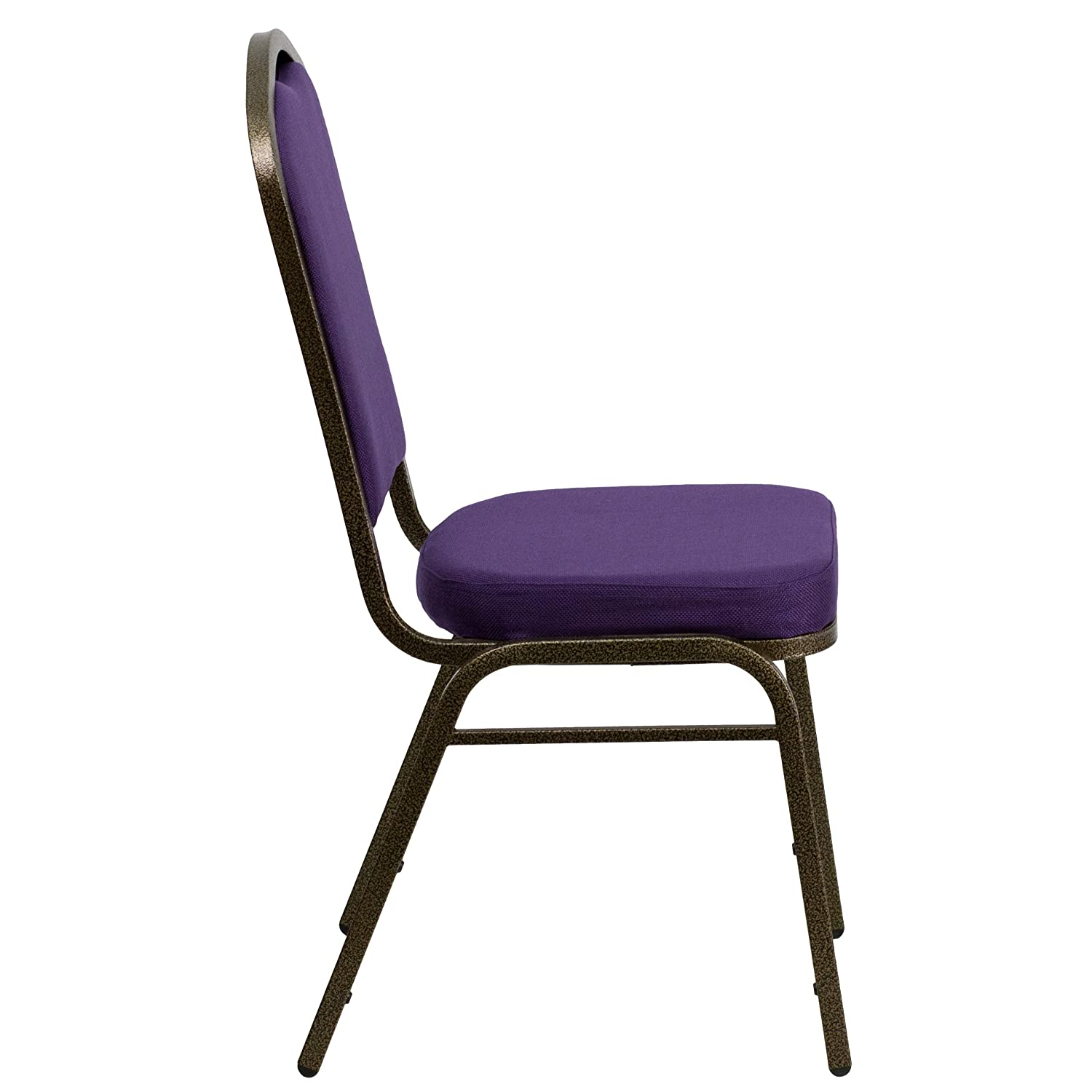 Amazing Amazon.com: Flash Furniture HERCULES Series Crown Back Stacking Banquet  Chair In Purple Fabric   Gold Vein Frame: Kitchen U0026 Dining
