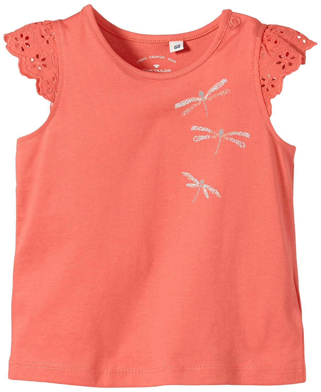 TOM TAILOR Kids Baby - Mädchen Top Lace Wing Sleeve top/504 Gr. 62 Rot (Blazing Coral 5486) 10306544021