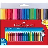 اقلام تلوين من فابر كاستل - 20 قلم تحديد دقيق قابل للغسل