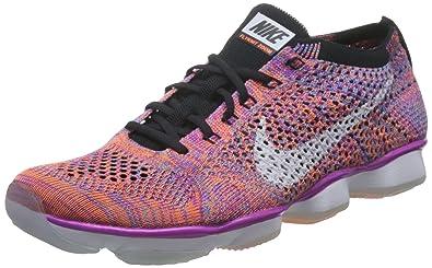 NIKE Women's Flyknit Zoom Agility Training Sneakers (6, Hyper Violet/White-Black