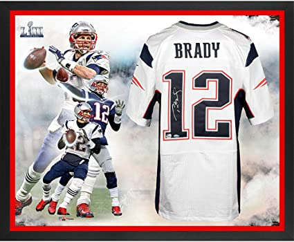 Tom Brady New England Patriots Framed Autographed Super Bowl LIII Champions  Nike White Elite Jersey Super c2ca9c8e0