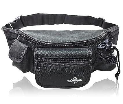 selezione premium 21627 ee401 GLOBEPROOF Marsupio nero con 7 scomparti – Grande borsello de viaggio per  le donne e gli uomini – Ideale come borsa per fotocamera o escursioni per  le ...