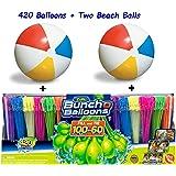 Bunch O Balloons Zuru Self-Sealing, Quick Fill Water Balloons (420 Pack) With Beach Balls