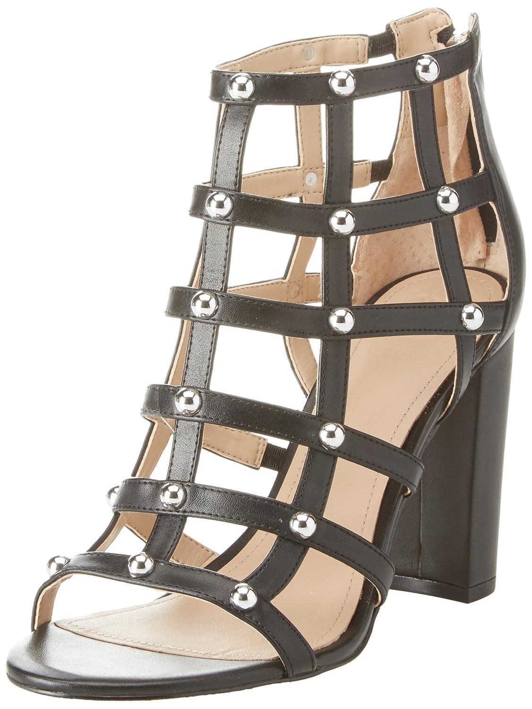 Guess Footwear Dress Shootie, Zapatos de Tacón con Punta Abierta para Mujer 40 EU|Negro (Black Black)