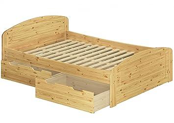 Erst Holz Funktionsbett Doppelbett 3 Bettkasten Rollrost 160x200