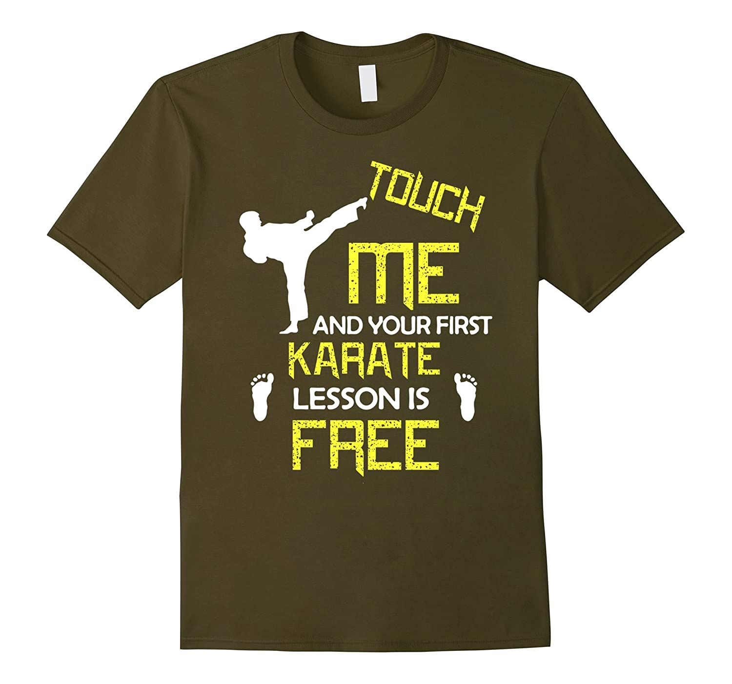KARATE T-shirt: Touch me and your first lesson is FREE-Art