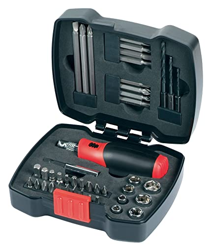 Black+Decker A7175-XJ Pack de 43 piezas para atornillar con atornillador de carraca, Piece, Set