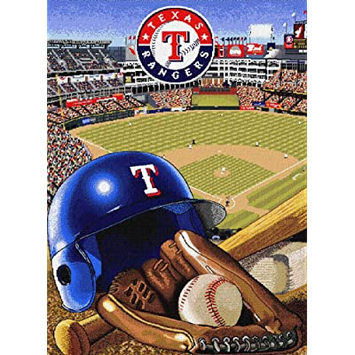 MAXFYOU Wood Puzzle 500 Piece - Jigsaw Puzzle for Adult and Kids - American Baseball Teams Wooden Puzzle.3ML-PT05-G28: Toys & Games