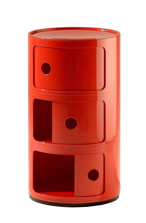 Kartell COMPONIBILE Table de chevet - rouge