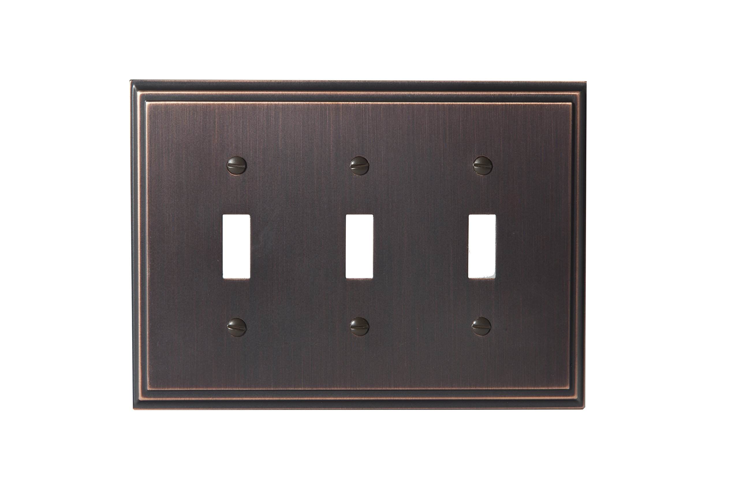 Amerock BP36516ORB Mulholland 3 Toggle Wall Plate - Oil-Rubbed Bronze by Amerock