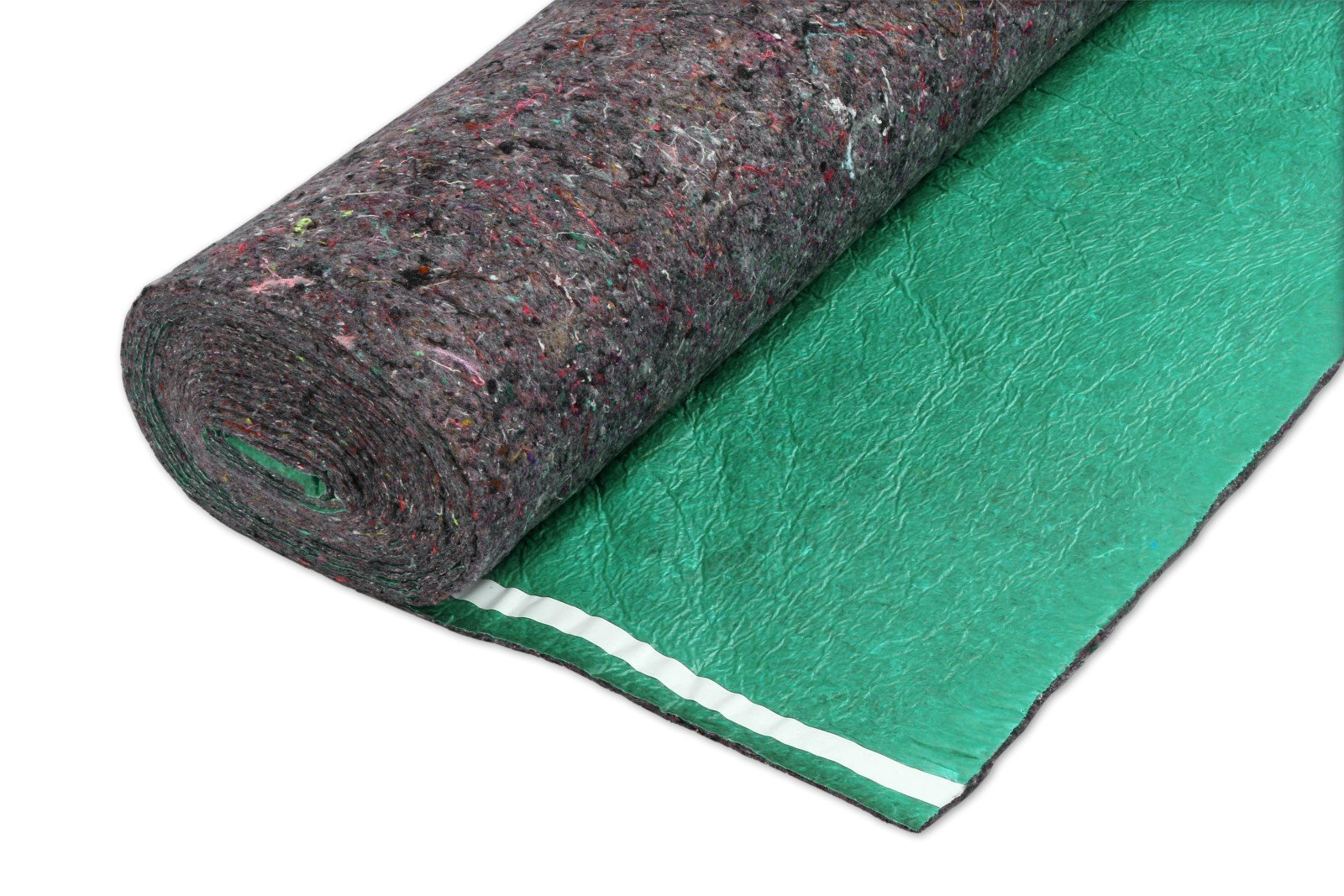 200SQFT 3.5MM AMERIQUE Super Quiet Walk Felt Underlayment Heavy Duty Padding with Vapor Barrier & Tape, Perfect for Hardwood, Bamboo, Floating Floors & Laminate, Bright Green, Pack of 2 by AMERIQUE (Image #4)