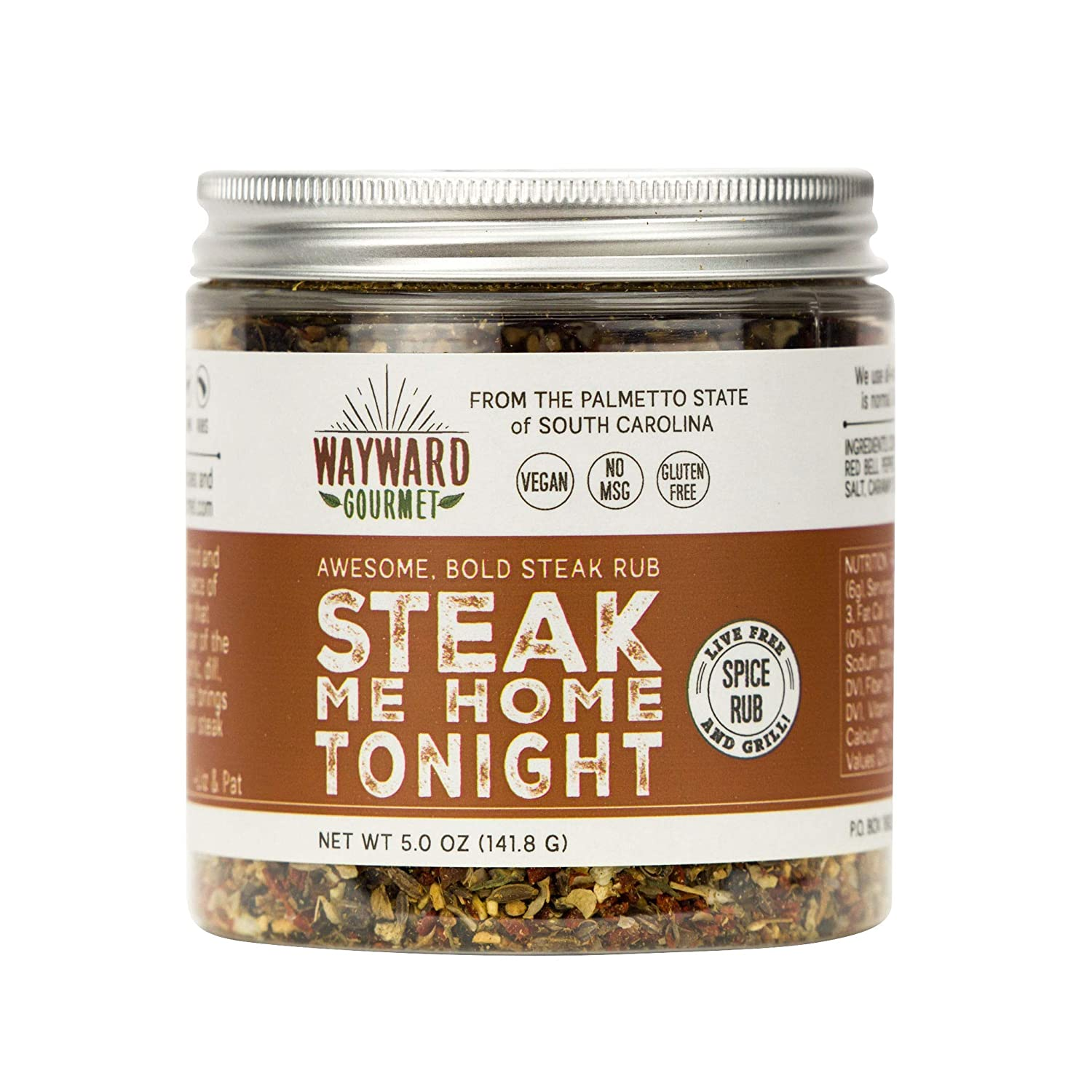 Steak Me Home Tonight - Dry Steak Rub by Wayward Gourmet - Bold Gourmet Steak Rub for Your Favorite Cut - All Natural Steak Seasoning - No MSG, No Gluten - Handmade in the USA for Best Quality Flavor
