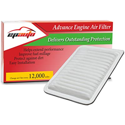 EPAuto GP171 (CA10171) Replacement for Toyota Rigid Panel Engine Air Filter for Camry Gas L4 (2007-2016), Venza Gas L4 (2009-2015); suggest replace with cabin air filter CP285 (CF10285): Automotive