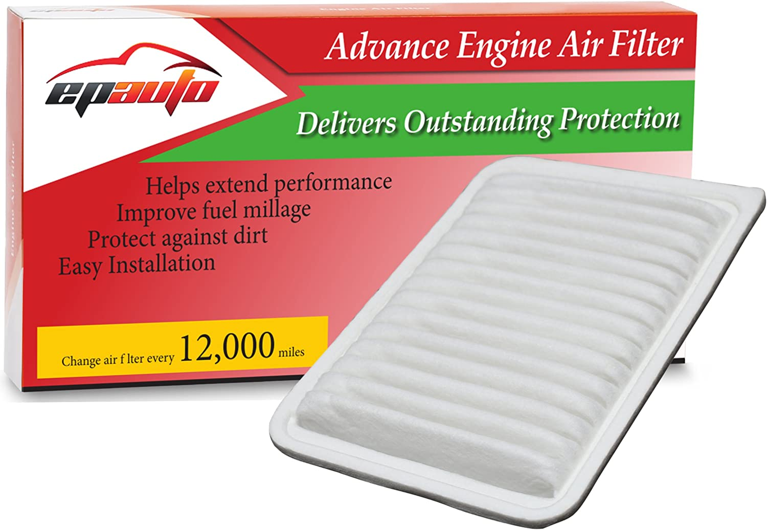 EPAuto Replacement for Toyota Rigid Panel Engine Air Filter