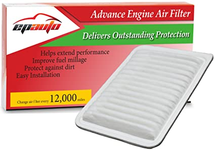 epauto gp171 (ca10171) replacement for toyota rigid panel engine air filter  for camry gas
