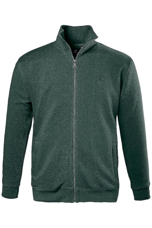 JP1880 Men's Big & Tall Sweatshirt High Collar Zipper Jacket Dark Green XX-Large 687202 40-XXL