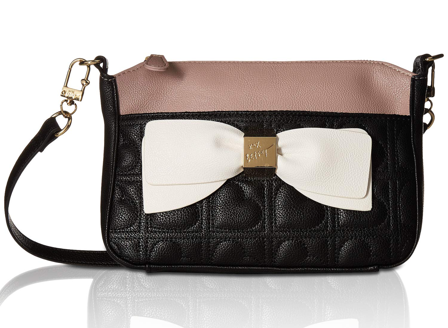 acc676741 Betsey Johnson Women's Bow Crossbody with Pouch Black Multi One Size