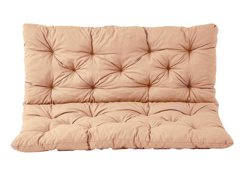 Beige /Banca 2/cuscino cuscino seduta e schienale Hanko cuscino per panca ca 120/x 98/x 8/cm Ambientehome/ cuscino imbottito