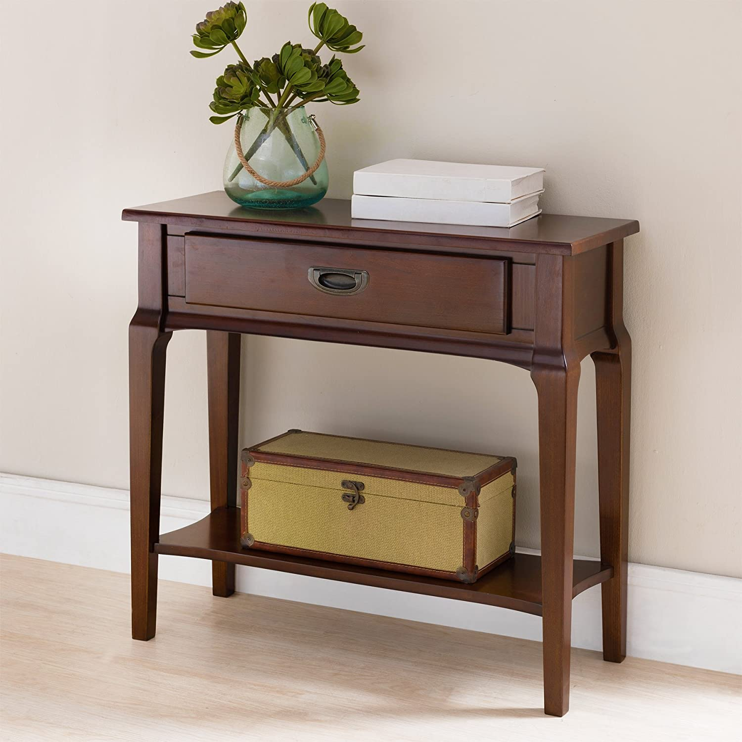 Leick 22032 Contemporary Stratus Condo Apartment Hall Stand with Drawer